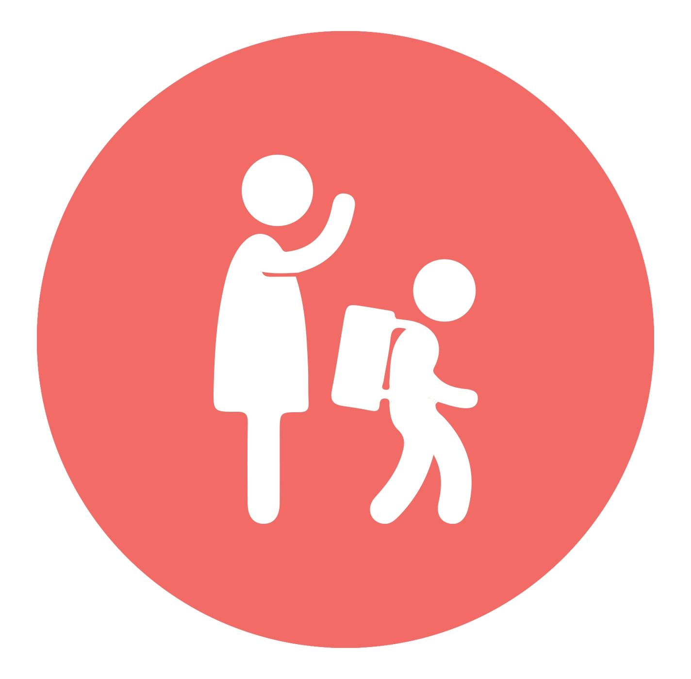 parent and child icon - child maltreatment defined